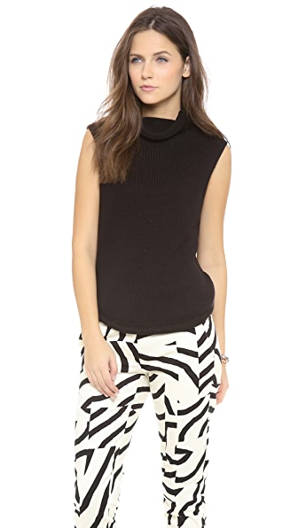 Tibi Sleeveless Funnel Neck Top