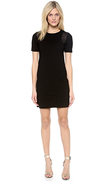 Tibi Bandage Dress with Mesh Insert