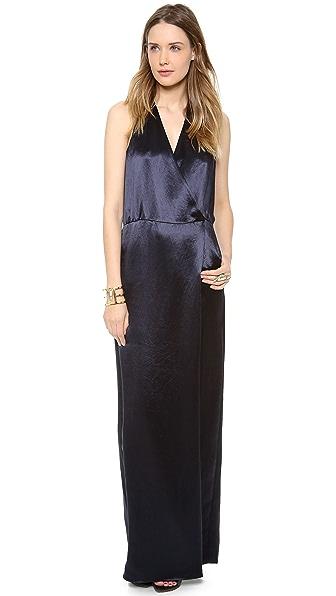 Tibi Long Draped Dress