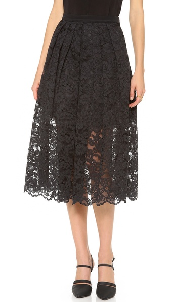 Tibi Lace Party Skirt
