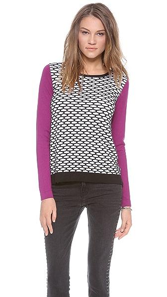Tibi Mesh Easy Sweater