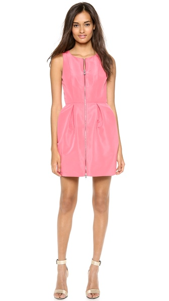 Tibi Silk Faille Sleeveless Dress