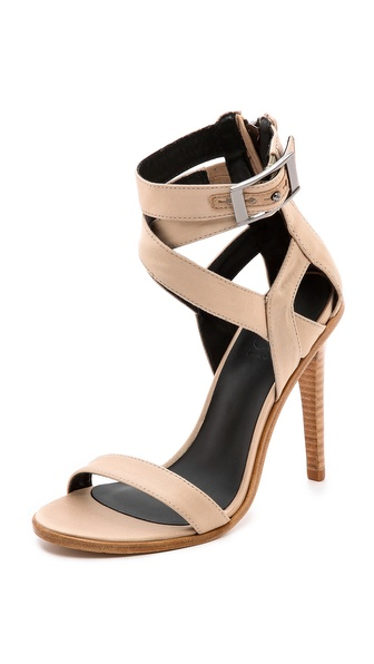 Tibi Vanya Cross Strap Sandals