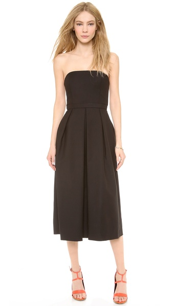 Tibi Sleeveless Pleated Jumpsuit