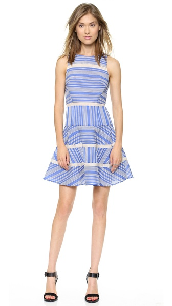 Tibi Sleeveless Cotton Stripe Dress