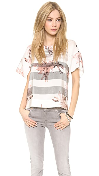 Tibi Short Sleeve Top