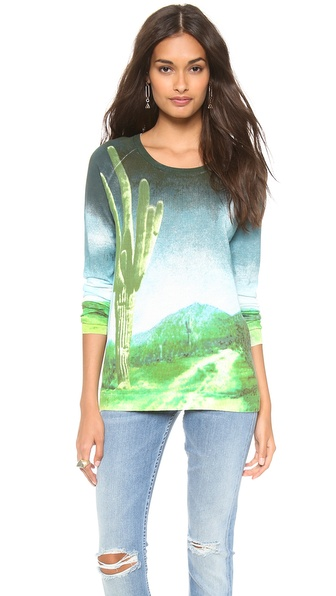 Tibi Printed Raglan Sweater