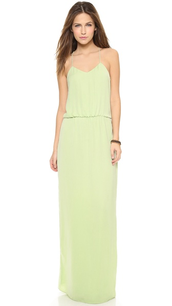 Kupi Tibi haljinu online i raspordaja za kupiti A simple, elegant Tibi maxi dress in soft, rich crepe. Delicate spaghetti straps trim the revealing racer back, and a gathered seam defines the waist. Back slit. Hidden back zip. Silk lining. Fabric: Crepe. Shell: 100% polyester. Lining: 100% silk. Dry clean. Imported, China. COLOR: Please refer to still photos for accurate color representation. Measurements Length: 59in / 150cm, from shoulder Measurements from size 4. Available sizes: 0,2,4,6,8,10,12