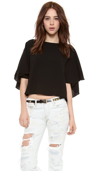 Tibi Cape Back Top