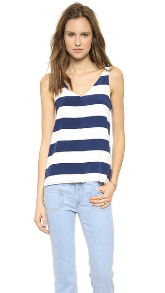 Tibi Striped Refined Tank