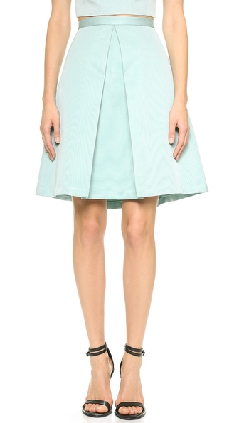 Tibi Pleat Skirt