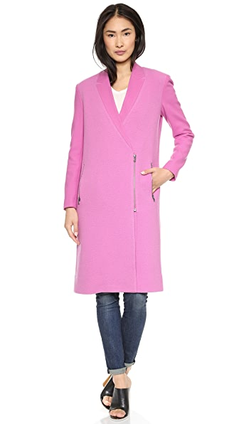 Tibi Boucle Long Coat