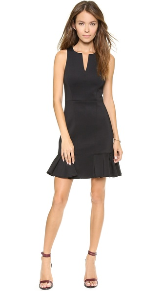 Tibi Split Neck Sleeveless Dress