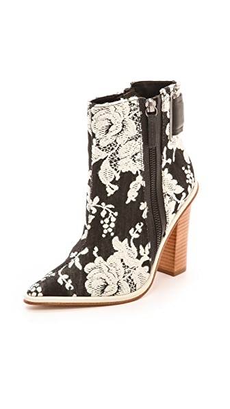 Tibi Brigid Brocade Booties
