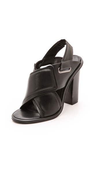 Tibi Cleo Cross Strap Sandals