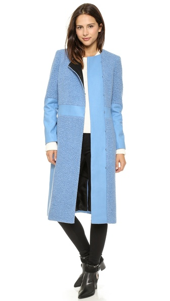 Tibi Long Sleeve Coat