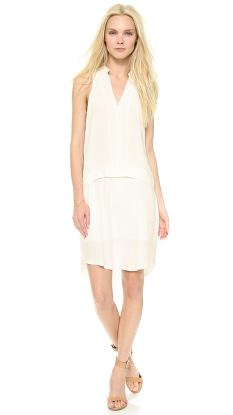 Tibi Sleeveless Shirt Dress