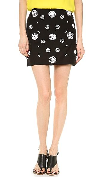 Tibi Shell Beading Miniskirt