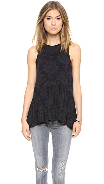 Tibi Tapestry Print Top