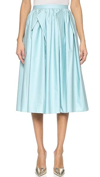 Tibi Origami Skirt - Mizu Blue