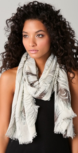 Tilo Feather Print Scarf