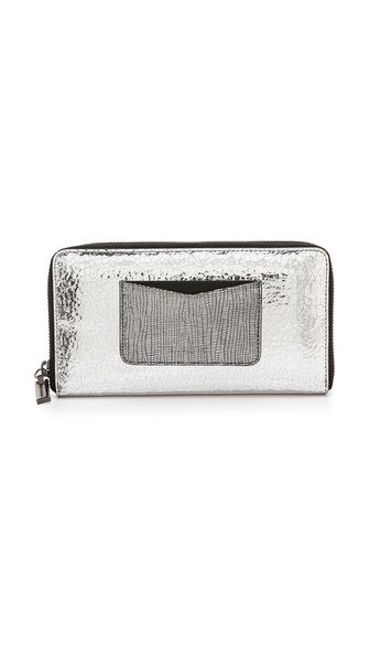 Time's Arrow Zip Continental Wallet