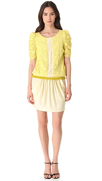 Timo Weiland Dress with Lace Trim