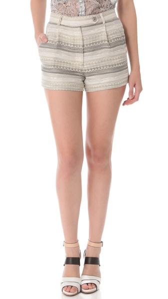 Timo Weiland Joyce Raffia Shorts