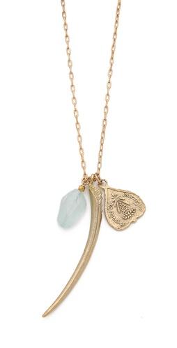 T. Kilburn Horn Cluster Charm Necklace