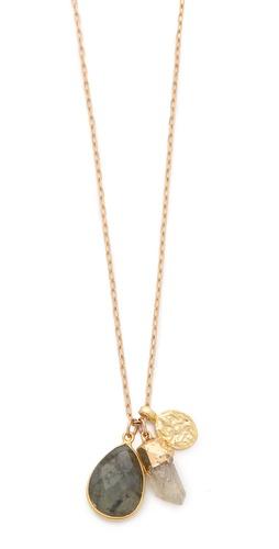 T. Kilburn Cluster Labradorite Charm Necklace