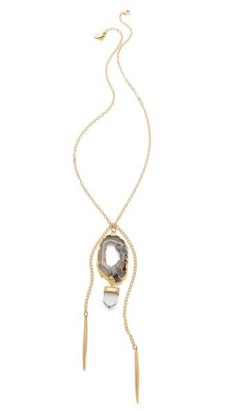 T. Kilburn Geode Crystal & Needles Necklace