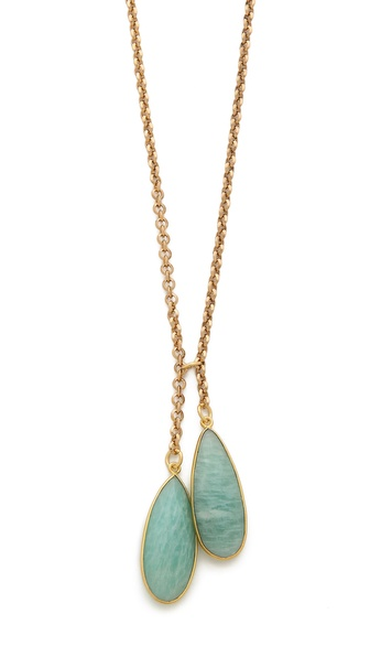 T. Kilburn Amazonite Teardrop Duet Necklace