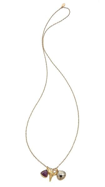 T. Kilburn Shark Tooth Cluster Necklace