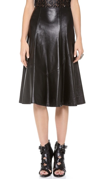 Tocca Malice Leather Skirt