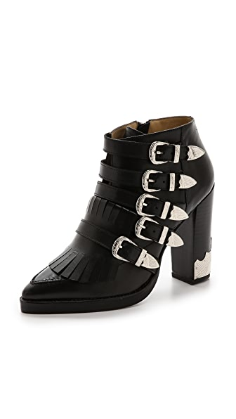 Toga Pulla Buckle Heeled Booties