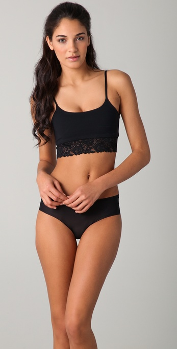 Top Secret Prop Top with Lace Bralette