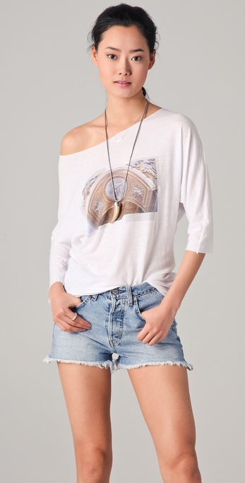 Burning Torch Dolman Sleeve Graphic Tee