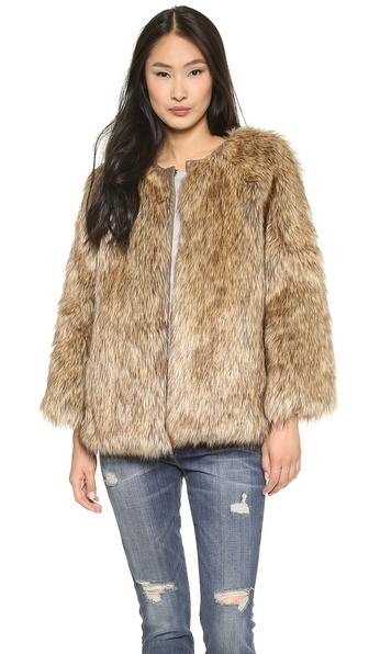 Burning Torch Venus in Furs Faux Fur Jacket