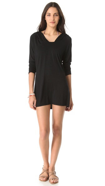 Tori Praver Swimwear Hooded Cover Up Dress
