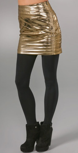 Torn by Ronny Kobo Metallic Miniskirt