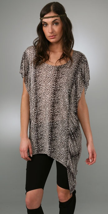 Torn by Ronny Kobo Brooked Cheetah Tunic