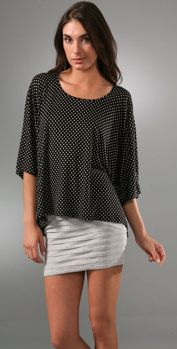 Torn by Ronny Kobo Brigitte Polka Dot Top