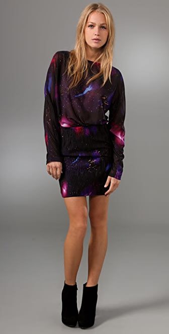 Torn by Ronny Kobo Luca Space Print Dress