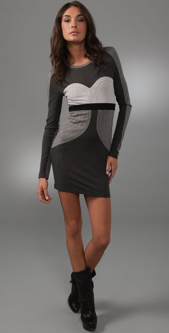 Torn by Ronny Kobo Hilary Long Sleeve Dress