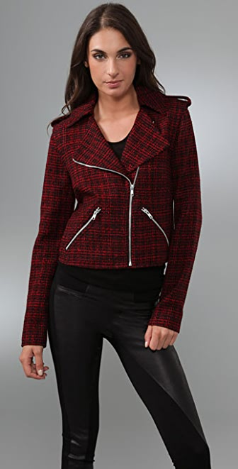 Torn by Ronny Kobo Juliet Biker Tweed Jacket
