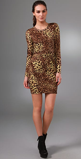 Torn by Ronny Kobo Tara Cheetah Dress