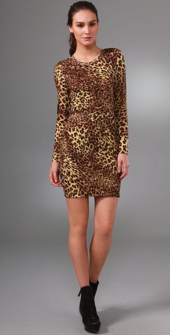 Torn by Ronny Kobo Tara Cheetah Dress