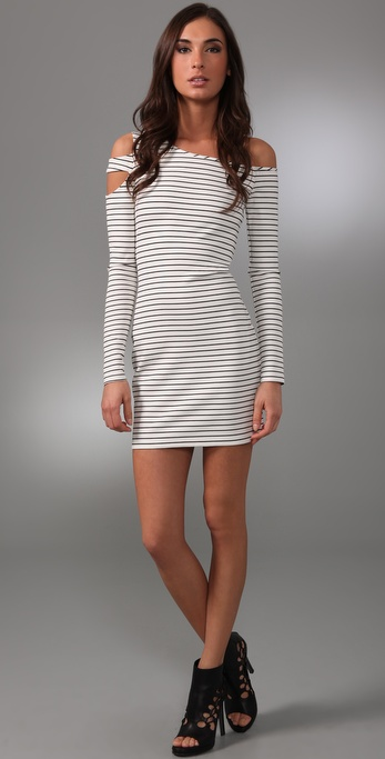 Torn by Ronny Kobo Naomi Striped Mini Dress