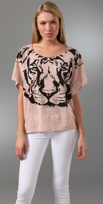 Torn by Ronny Kobo Bianca Tiger Tee