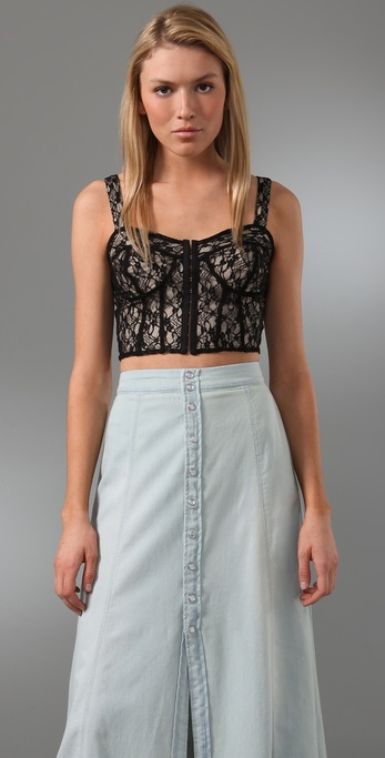 Torn by Ronny Kobo Ronny Lace Bustier Top